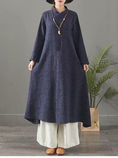 Red And Blue Casual Cotton Linen Maxi Dresses For Women 1388 Ball Dresses, Girls Dresses, Kurti Neck Designs, Spring Outfits Women, Mode Hijab, Muslim Fashion, Linen Dresses, Cotton Linen, Girl Fashion