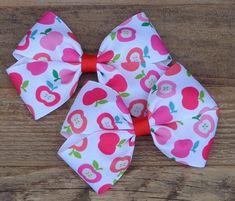 Back to School Hair Bow School Hair Bow Match School Uniform Bows Pinwheel Hair Bow Preschool bows Pigtails school Hairbows Kindergarten Bow