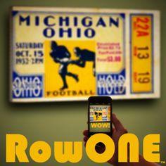 1932 Michigan vs. Ohio State canvas ticket art. #Michigan #GoBlue #OSU #Buckeyes #Ohio #Columbus #GoBucks