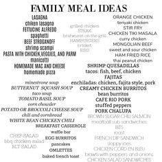 Great ideas for #familydinner to help with #mealplanning and #mealprep. No more #whatsfordinner