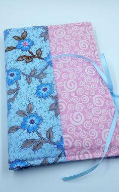 Handy Notebook Organizer, Ribbon Closure-Blue, Pink, Dark Blue, Floral