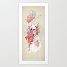 Sweet Party Art Print by Ariana Perez - $17.00