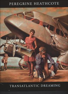 I'm puzzling over how to classify the art of Peregrine Heathcote - ). On the one hand, he makes part of his living painting portraits. Retro Art, Vintage Art, Florence Academy Of Art, Art Deco Artists, Airplane Art, Art Deco Posters, Diesel Punk, Peregrine, Nose Art