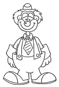 Clown Coloring Pages | ... coloriages/vie%20quotidienne/le%20cirque/clowns%203/images/clown43.gif