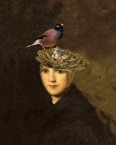 Portrait of a Bird Brain  8 X 10 Art Print by BeatUpCreations, $15.99