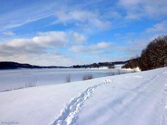Eppe Sauvage (Nord, Pays de Sambre-Avesnois), le lac du ValJoly sous la neige...17/01/2013
