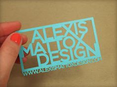 I love this laser-cut business card from Alexis Mattox Design.