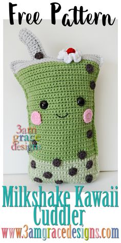 Milkshake Kawaii Cuddler - free crochet amigurumi pattern