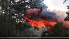 Watch This Guy Jump From A Burning Vehicle! [Video]