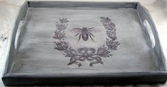 Shabby Sweet Cottage: Bumble Bee Tray-how to transfer images
