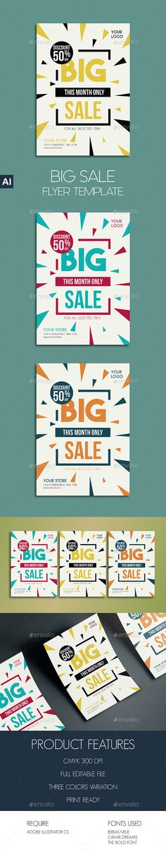 Garage Sale Flyer Poster Ai illustrator, Template and Flyer template - For Sale Ad Template