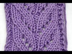knit laces http://www.knitaholics.com/ * This video teaches you how to knit a leaves rib stitch easily with 8 pattern rows only...