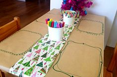 Christmas cute table setting for kids