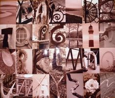 I've tried to do this before, but had trouble finding a few letters. Want to try again though and make prints for people! Alphabet Photos, Alphabet Art, Alphabet Photography, Art Photography, Alphabet Display, Art For Kids, Kid Art, Everyday Objects, New Image