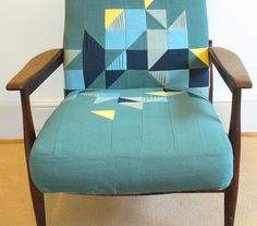 Eleanor Young - amazing chair redo.  I love this idea for using scraps.