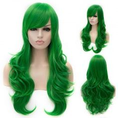 SHARE & Get it FREE | Fashion Green Lolita Long Wavy Side Bang Synthetic Capless Cosplay Wig For WomenFor Fashion Lovers only:80,000+ Items • FREE SHIPPING Join Twinkledeals: Get YOUR $50 NOW!