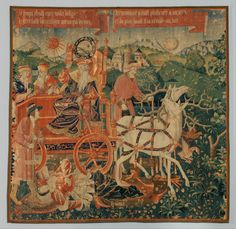 The Triumph of Time over Fame Date: ca. 1500–1530 Culture: South Netherlandish Medium: Wool warp; wool and silk wefts Dimensions: Overall: 150 1/4 x 148 1/4 in. (381.6 x 376.6 cm) Classification: Textiles-Tapestries Credit Line: Bequest of George D. Pratt, 1935 Accession Number: 41.167.1