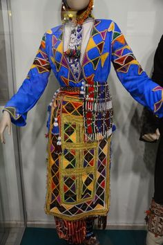 A traditional daily costume from the Tokat province.  Rural, mid-20th century.  Ethnic group: Alevi Türkmen.
