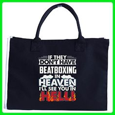 If They Don't Have Beatboxing In Heaven See You In Hell - Tote Bag - Top handle bags (*Amazon Partner-Link)