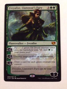 Magic the Gathering: Freyalise, Llanowar's Fury from the set Commander 2014 NM/M #WizardsoftheCoast #mtg