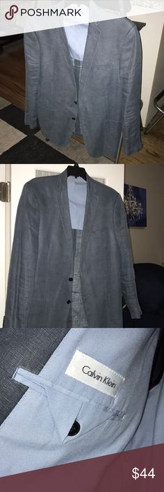Casual Blue Sport Jacket Light Causal Sport Jacket True to size  Calvin Klein Perfect Condition.  Great for going out - can wear with t-shirt or Button Down Accepting All Offers Calvin Klein Jackets & Coats Lightweight & Shirt Jackets