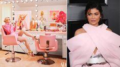 walk in shower Bathrooms: 8 celebrities take us on a tour of their glamorous vanity rooms Hair Salon Stations, Birdcage Light, Kim Kardashian Kylie Jenner, Glam Mirror, Wardrobe Room, Kylie Lip Kit, Old Makeup, Vanity Room, Glam Room