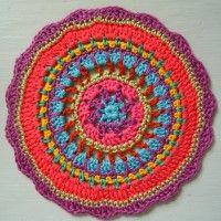 Crochet Mandala Wheel made by  Ruth, USA for yarndale.co.uk