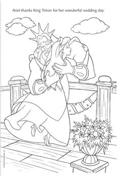 In this coloring page Queen Athena