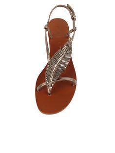 Lola Cruz Studded Leaf Sandals @ Lori's Shoes