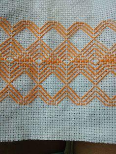 Swedish Embroidery, Japanese Embroidery, Hand Embroidery Flowers, Embroidery Stitches, Free Swedish Weaving Patterns, Border Pattern, Bargello, Blackwork, Needlework