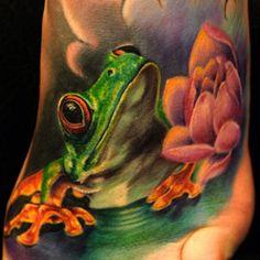 Tattoo colorful gree