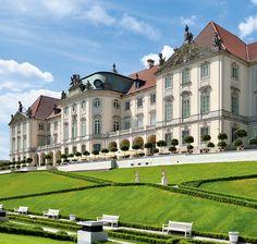 Zamek Królewski w Warszawie - zamek od strony Wisły z Ogrodem Górnym