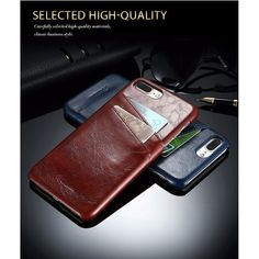 Business Style Luxury Leather Case Cover Fashion Wallet Card Holder Shell Funda For iPhone 7 7 Plus Case