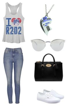 """Casual Outfit"" by mitchieanne21 on Polyvore featuring Topshop, Vans, Mulberry, Fendi and R2"