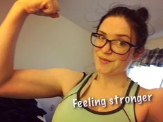 Feeling stronger everyday! Keep at it and you'll reach your goals! Feels so good to accomplish something!! Almost done alpha! Next week I move up to beta!! by fitmommegan