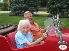Out for a spin with my friend Helen, 100 years old.