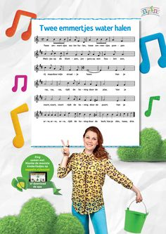 Tekst van het kinderliedje Twee emmertjes water halen, gezongen door Nienke van Zappelin