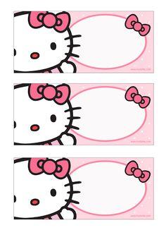 Sabor de Fiesta : Kit imprimible GRATUITO de Hello Kitty.