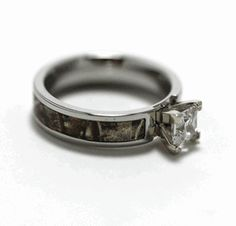Camouflage engagement ring