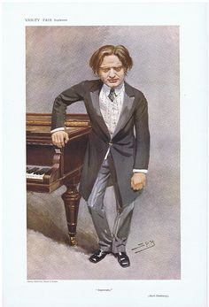 Mark Hambourg. Date:  29-Apr-1908   The Vanity Fair Caricature of    Mr. Mark  Hambourg  With the caption of  :  Impromptu  By the artist:  SPY Visit www.theakston-thomas.co.uk for many more Vanity Fair Prints