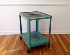 Industrial Railroad Coffee Table Cart by RetroWorksStudio on Etsy
