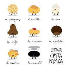Castanyada i Panellets per Tots Sants Spanish Activities, Autumn Activities, Mini Yo, Bakery Decor, Mood Colors, Sweet Wine, Mr Wonderful, Scrapbooking, Seasons Of Life