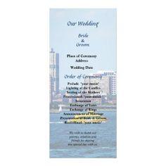 NY Water Taxi Wedding Program  -- New York destination wedding program that you can customized yourself.  #wedding  #weddingprogram #weddingprograms #gettingmarried #customize #destinationwedding #manhattan #newyork #watertaxi #skyline #skyscrapers #blue  $0.65 per card   BULK PRICING AVAILABLE!