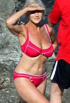 The bikini turns 70 this year. And this is British badass Helen Mirren Beautiful Women Over 50, Beautiful Old Woman, Sexy Older Women, Old Women, Sexy Women, Classy Women, Dame Helen, Drop Dead Gorgeous, Helen Mirren