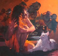 Kai Fine Art is an art website, shows painting and illustration works all over the world. Fine Art Photo, Photo Art, Figure Painting, Painting & Drawing, Modern Art, Contemporary Art, Photos Of Eyes, Art En Ligne, Man And Dog