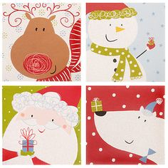 Buy John Lewis Cube Flitter Friends Charity Christmas Cards, Box of 32 Online at johnlewis.com