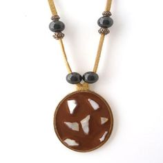 Pendant and Beads Necklace Beautiful mosaic pendant!  Only $17 shipped!  #FreeShip #Mosaic
