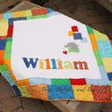 Baby quilt with name and applique