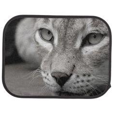 Car Floor Mats. Photo Lynx. Car Mat - animal gift ideas animals and pets diy customize