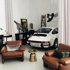 people sitting living room and indoorYou can find Porsche carrera and more on our website.people sitting living room and indoor Porsche Panamera, Porsche Autos, Porsche Classic, Loft Design, Garage Design, House Design, Design Model, Porsche Carrera, Vintage Porsche